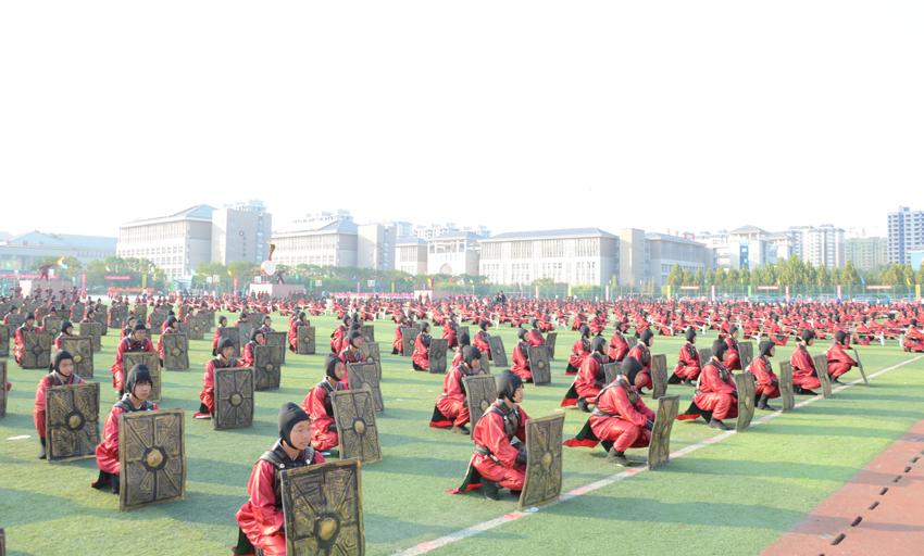 邯郸市第14届中学生体育节田径运动会在临漳开幕